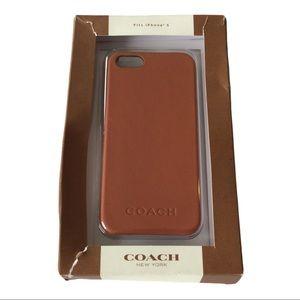 Coach iPhone 5 Case NEW in box in burnt orange